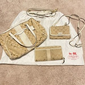 Coach Handbag Set